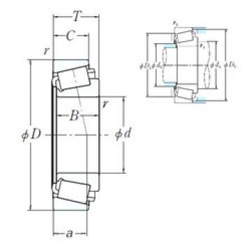 Bearing HH231637/HH231615 NSK