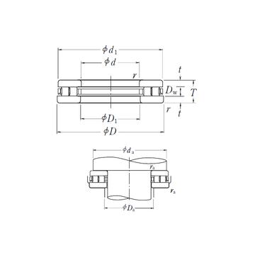 130TMP94 NSK Thrust Roller Bearings