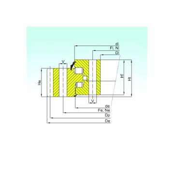 ER3.20.1250.400-1SPPN ISB Thrust Roller Bearings