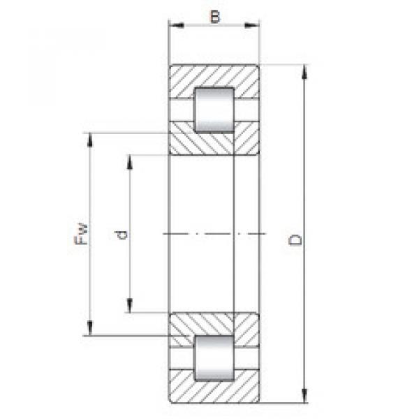 Bearing NUP2215 E CX #1 image