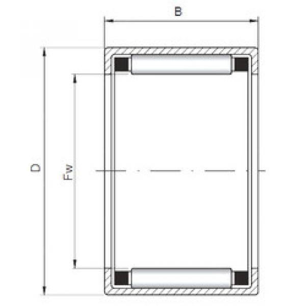 Bearing HK354516 ISO #1 image