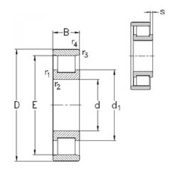 Bearing N324-E-M6 NKE #1 image