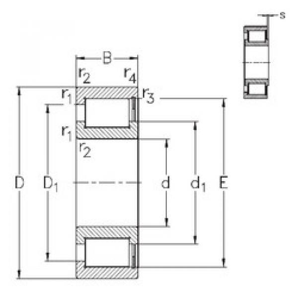 Bearing NCF29/1000-V NKE #1 image