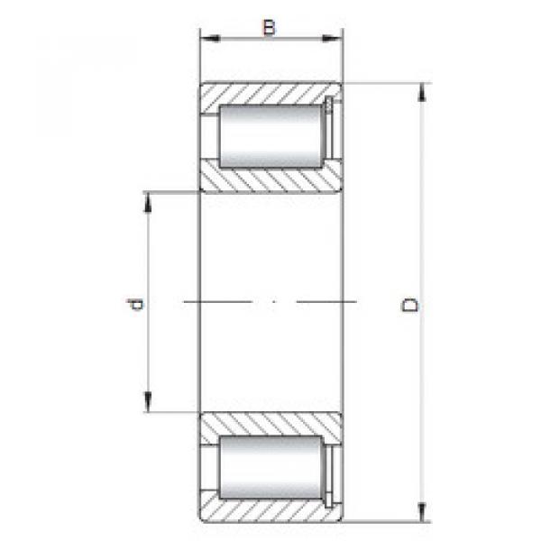 Bearing NCF29/500 V ISO #1 image