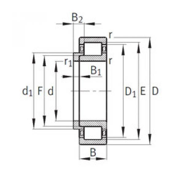 Bearing NJ309+HJ309 CYSD #1 image