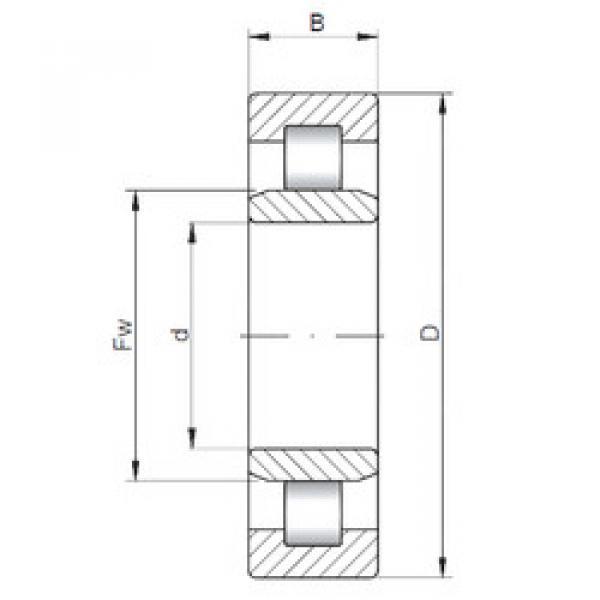 Bearing NU3211 ISO #1 image