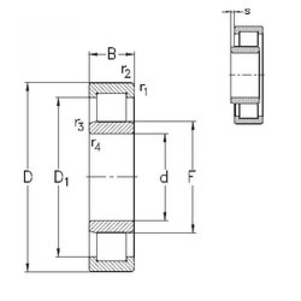 Bearing NU310-E-M6 NKE #1 image
