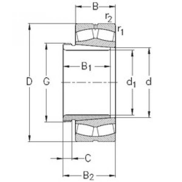 Bearing 239/560-K-MB-W33+AH39/560 NKE #1 image