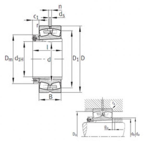 Bearing 239/530-K-MB+H39/530 FAG #1 image